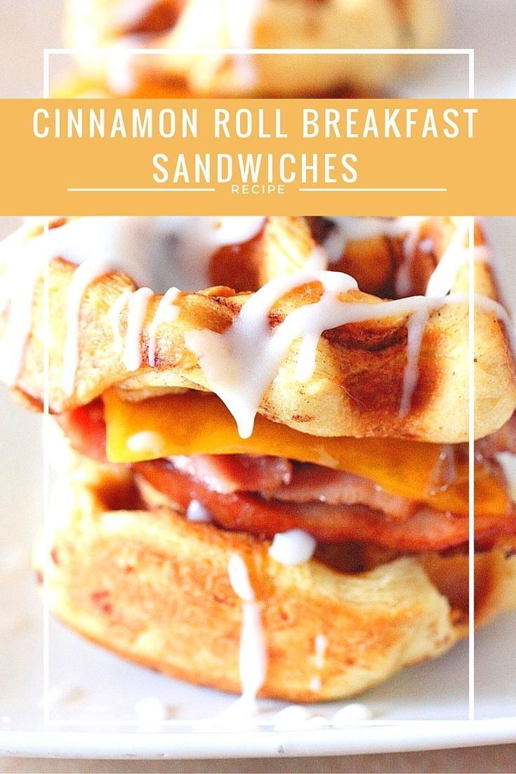 Cinnamon Roll Breakfast Sandwiches: All you need is 3 ingredients to make these easy Cinnamon Roll Brekafast Sandwiches.