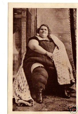 Teresina:     Italian fat lady sideshow carnival attraction  Real Picture Postcard 1920