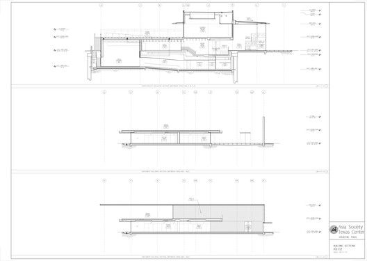 Asia Society Texas Center / Yoshio Taniguchi,Building Sections
