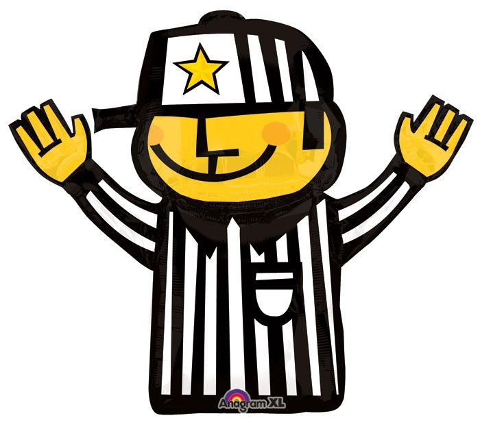 "TOUCHDOWN!!! Football Season is not complete without this 32"" Referee shape foil balloon! #burtonandburton"