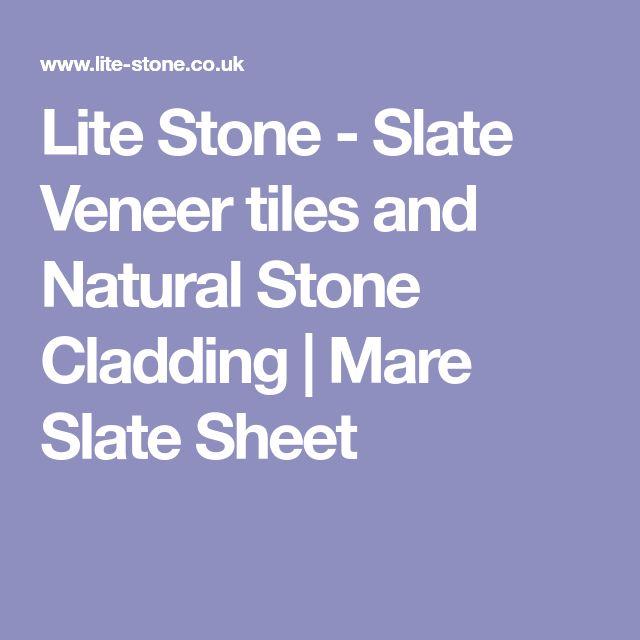 Lite Stone - Slate Veneer tiles and Natural Stone Cladding | Mare Slate Sheet