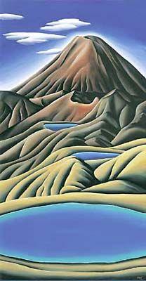 Emerald Lakes. Diana Adams, NZ Artist.