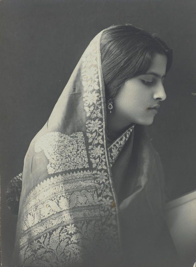 "vintageindianclothing: ""Attia Hosain's wedding trousseau also appeared to…"