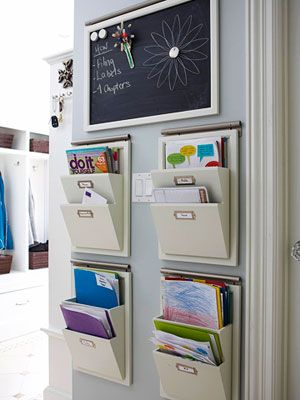 Household Command Centers - many ideas! keep papers organized & off the