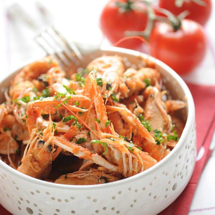 Découvrez la recette Langoustines à l'américaine sur cuisineactuelle.fr.