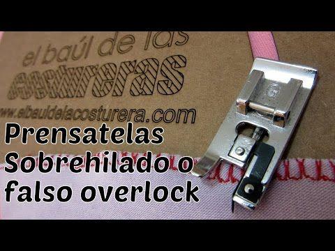 Prensatela sobrehilado para costuras elásticas - YouTube