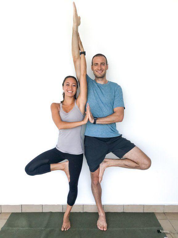 Couple S Yoga Poses 23 Easy Medium Hard Yoga Poses For Two People Couples Yoga Poses Yoga Poses For Two Partner Yoga Poses
