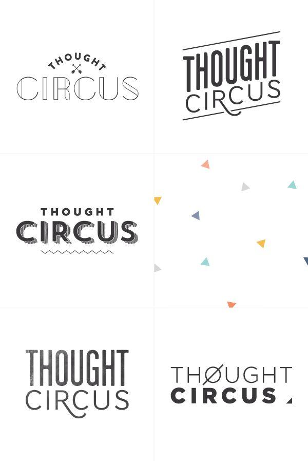 logo process | Breanna Rose - thought circus - logo variations - logo design