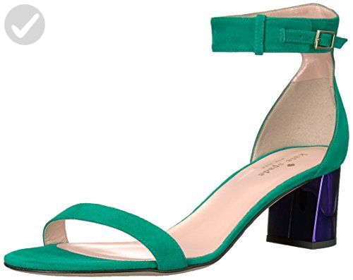 kate spade new york Women's Menorca Dress Sandal, Emerald Green/Ink Heel, 6 M US - All about women (*Amazon Partner-Link)
