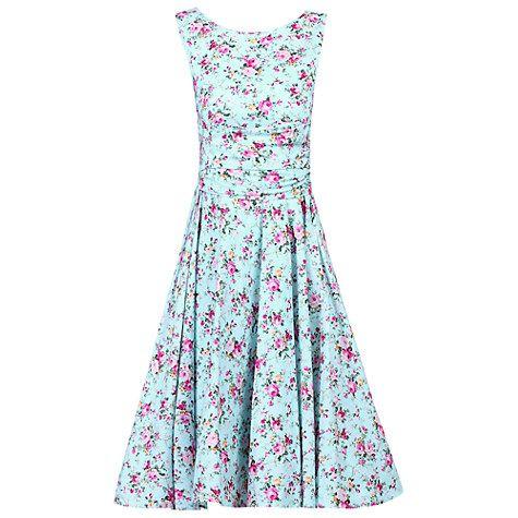 Buy Jolie Moi Skirted Dress, Aqua Online at johnlewis.com