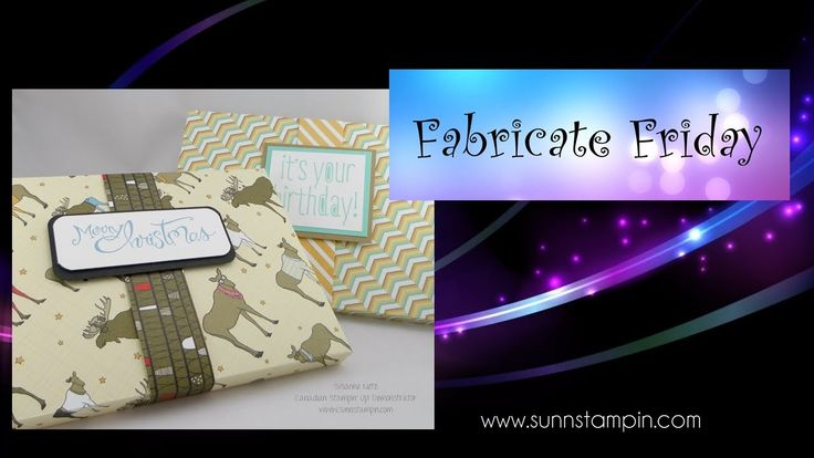 DVD wrapping with the envelope punch board featuring Stampin' Up! Products