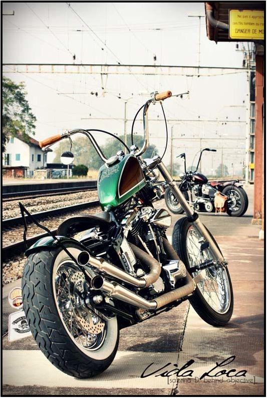 "Softail Harley ""Pura Vida"" Designed by Vida Loca Choppers in 2014"