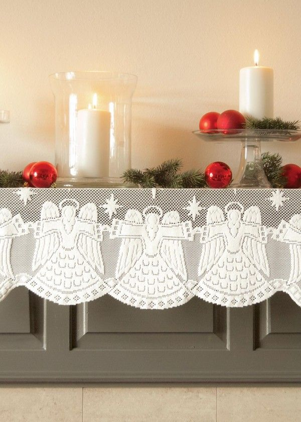 1000 Images About Christmas Mantel Scarves On Pinterest