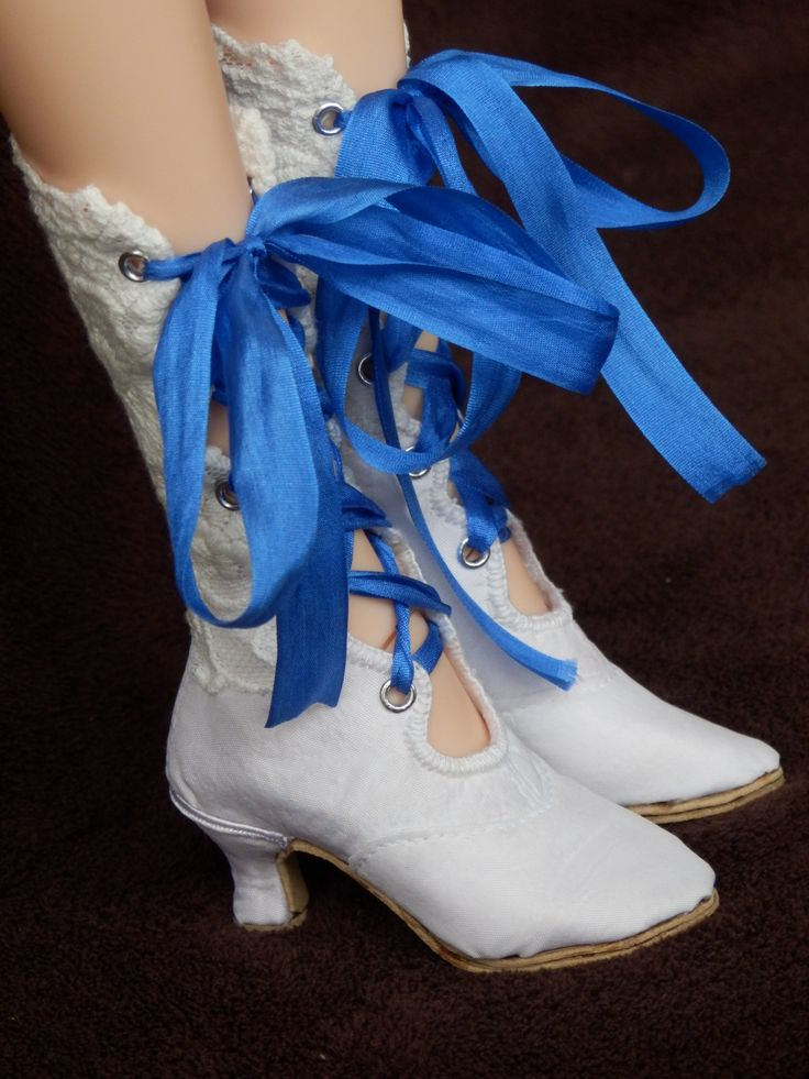 Victorian boots for SID BJD Dolls. Made by Juditheart 2016