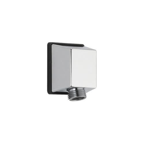 Delta 50570 Square Wall Supply Elbow for Hand Shower Hose Connection (Stainless Steel (Silver) Finish)
