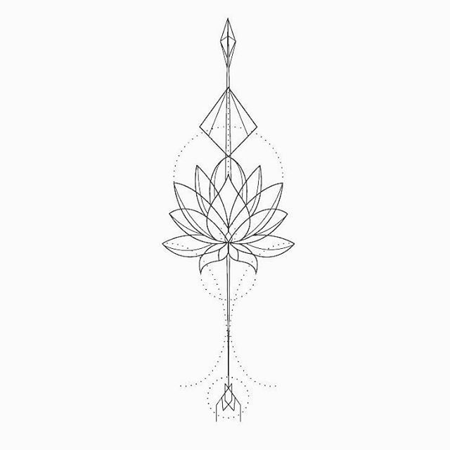 """39 Likes, 1 Comments - Stefanie Wieten (@stefaniewieten) on Instagram: """"Lotus tattoo design #artbystayfee #tattoodesign #tattoo #lotus #arrow #arrowtattoo #outlines #lines…"""""""