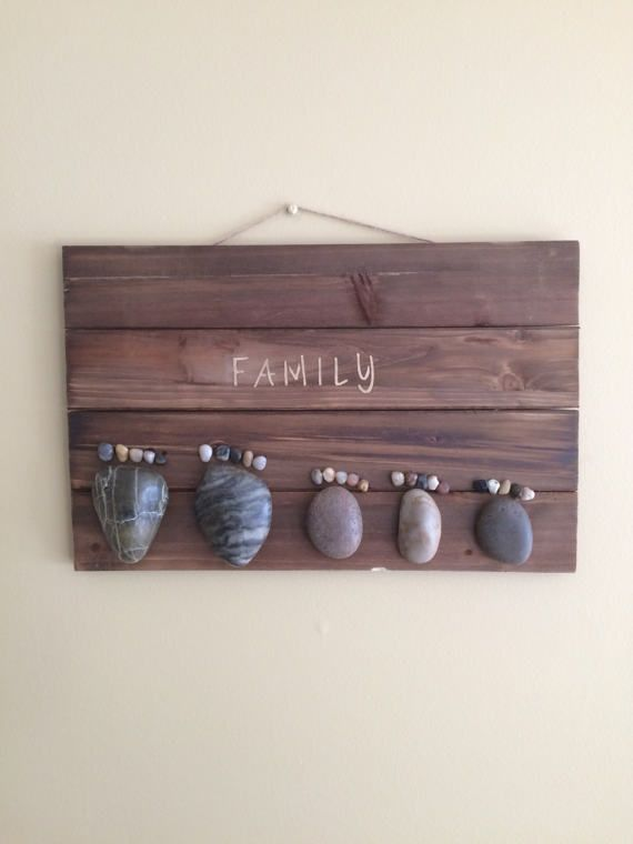Customizable Rock Feet Family of Five Sign by AviatrixCo on Etsy