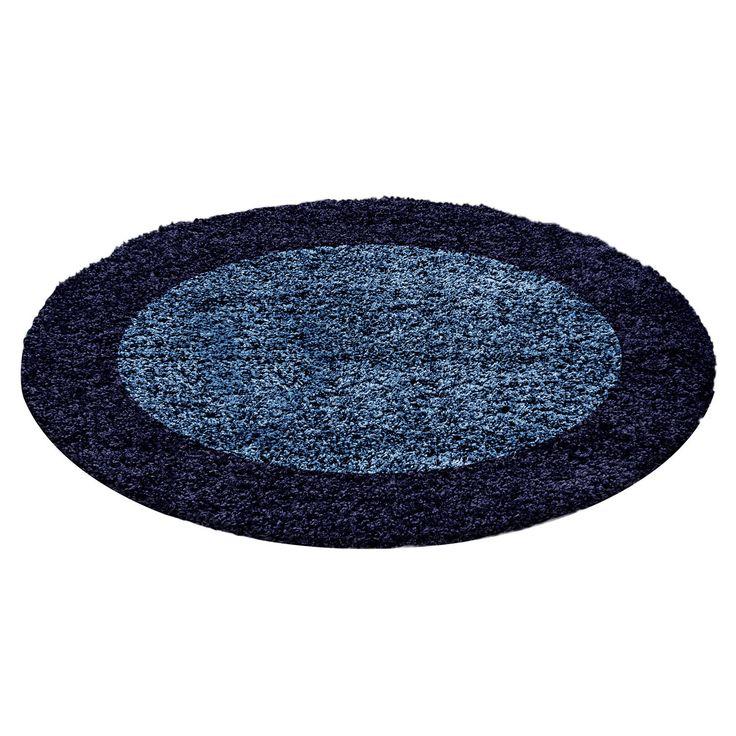 Hochflor Shaggy Bordüre Rund Teppich Carpet Wohnzimmer vers. Farben & Größen
