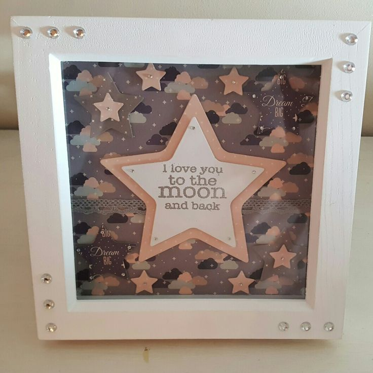 I love you to the moon and back  framed decor