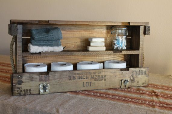 Bathroom Storage Reclaimed Military Wood Cabinet Furniture Reserved For Nickel on Etsy, Sold