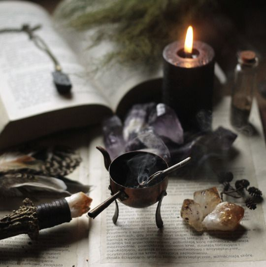 altar, uncense, crystals, candle | magic. altars. | Witch ...