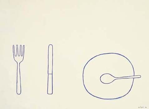 william scott | fork, knife, plate and spoon