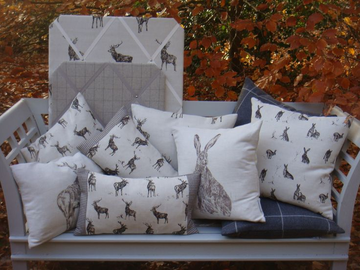 Collection of country linen from Milton and Manor made by V.H.DESIGNS  Norfolk