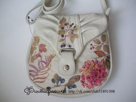 decoupage handbags/ tutorial