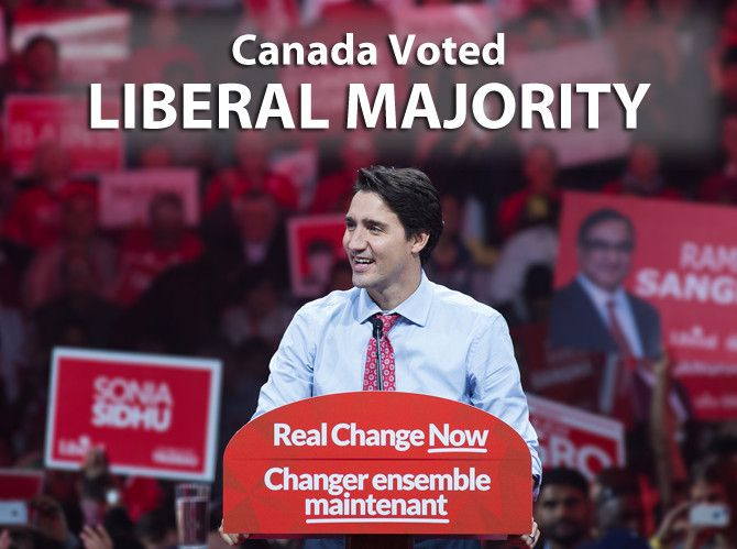 I chose this picture because it shows this years Liberal party's success at achieving a majority government in Parliament. It also depicts the Liberal party leader and newly elected Prime Minister, Justin Trudeau. After studying Canadian politics for quite some time this year, I am pleased the Liberal Party won as they were my party of choice.