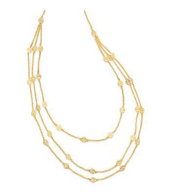 I prefer silver....Tory Burch Multi-strand Logo Necklace