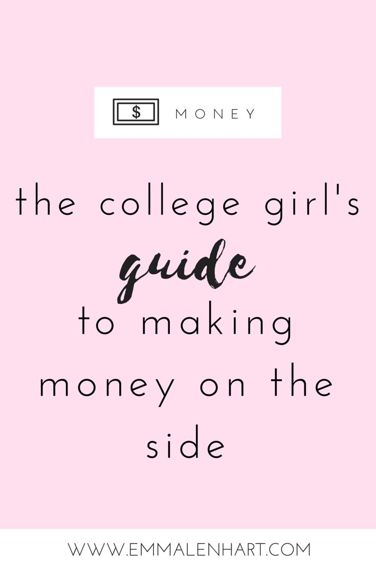 Are you a broke college girl? I've been there before. Click to learn how to make money online, on the side, while studying + being a college student. Proven ways to earn some extra cash!