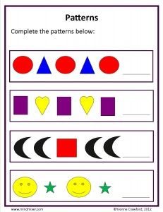Teach your kindergarten students to recognize and continue series of patterns using this free lesson plan and printable activity sheet.