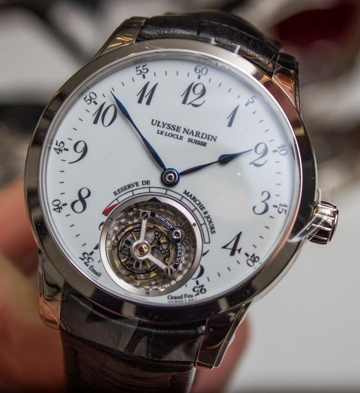 "Ulysse Nardin Anchor Tourbillon Watch Hands-On - by James Stacey - have an up-close look and read more: http://www.ablogtowatch.com/ulysse-nardin-anchor-tourbillon-watch-baselworld-2015/ ""Uysse Nardin is likely best known for their eccentric and fascinating Freak watches, but the brand has been expanding its manufacture prowess: this week at Baselworld 2015 they announced the Ulysse Anchor Tourbillon. This limited edition piece packs an impressive amount of technology into a classic and…"