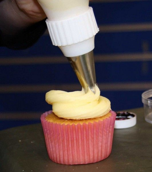 This is the most brilliant idea I have seen! I HATE filling the icing bags! This will save so much time!!