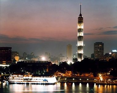 The Cairo tower is the largest tower in Egypt. it lights up different lights every day its is very beautiful and i would like to viist this place at night time to look at the amazing lights and take pictures of this concrete tower.