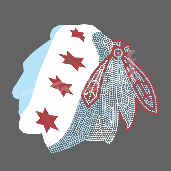 New Design Blackhawks Vinyl Motif Transfer Sports Team