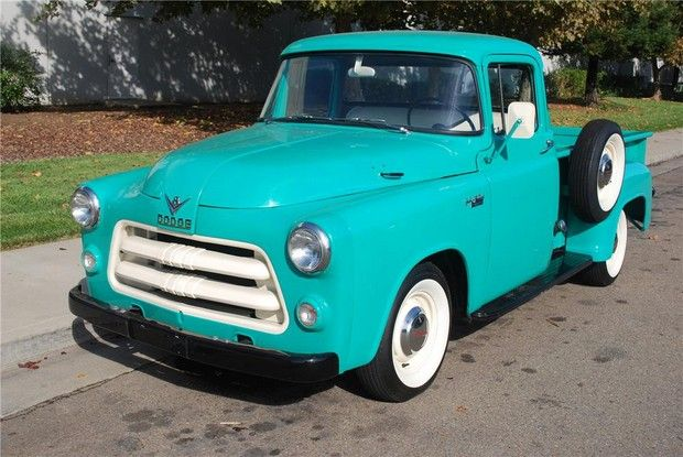 1956 DODGE PICKUP baby blue with white wall tires of course!
