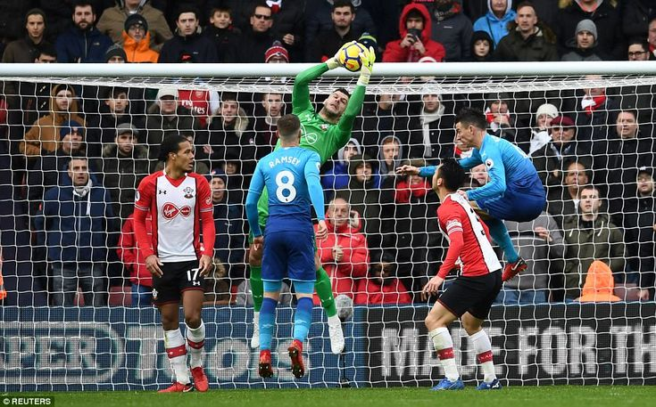 Saints keeper Fraser Forster was under-worked at the other end as Arsenal failed to convert possession into shots on target