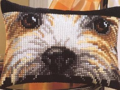 Схема вышивки подушки Собака - Схемы для вышивания - Вышивка крестом - Виды рукоделия - Рукодельниц@ - рукоделие своими руками