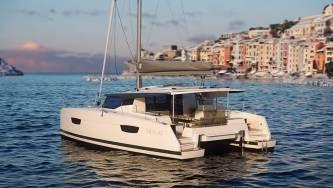 New 42 Fountaine Pajot sailing catamaran  - mooring