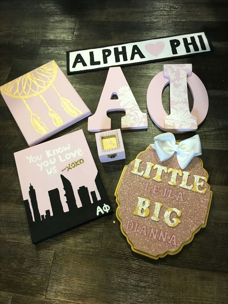 THE CRAFTS I MADE for Alpha Phi UConn Big & Little #CraftyPhis #AlphaPhiUConn