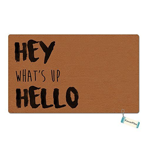 FavorPlus Hey What Is Up Hello Funny Entrance Custom Doormat Door Mat Machine Washable Rug Non Slip Mats Bathroom Kitchen Decor Area Rug 157x236 inch >>> Click on the image for additional details. (This is an affiliate link and I receive a commission for the sales)