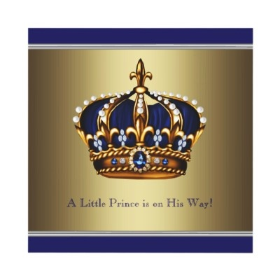 Adorable little prince party invitation