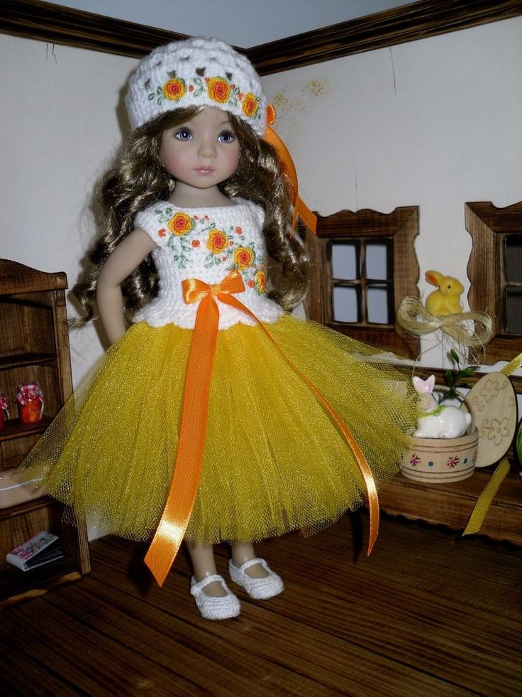 Set for Dianna Effner Little Darling 13 inches doll - blouse, skirt, hat. #Unbranded