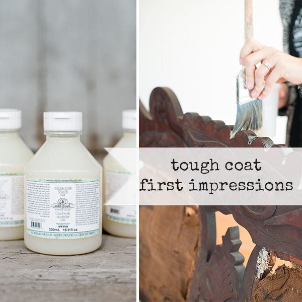 Miss Mustard Seed's Tough Coat Clear 500 ml - Tough Coat (500ml) is een heldere, niet-vergelende/matte vernis.