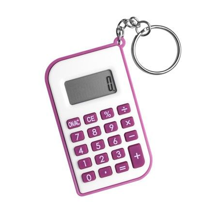 Keyring Calculator - Rose Pink