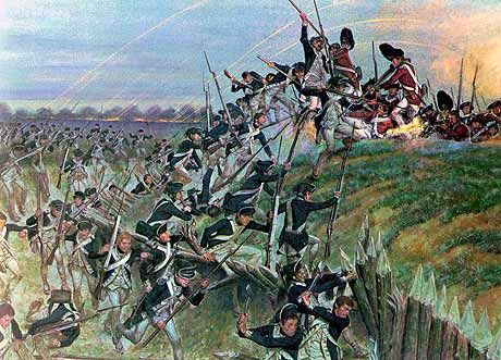 The Battle of Yorktown was the last battle in the Revolutionary War. The Americans had won. At this battle, Lord Cornwalllis (a British officer) surrendered for the British.