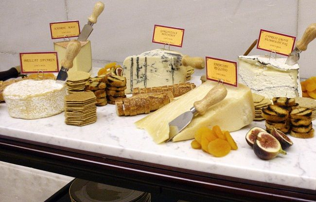 Cheese Carts that roam through the party bring delightful favorites to the guests.