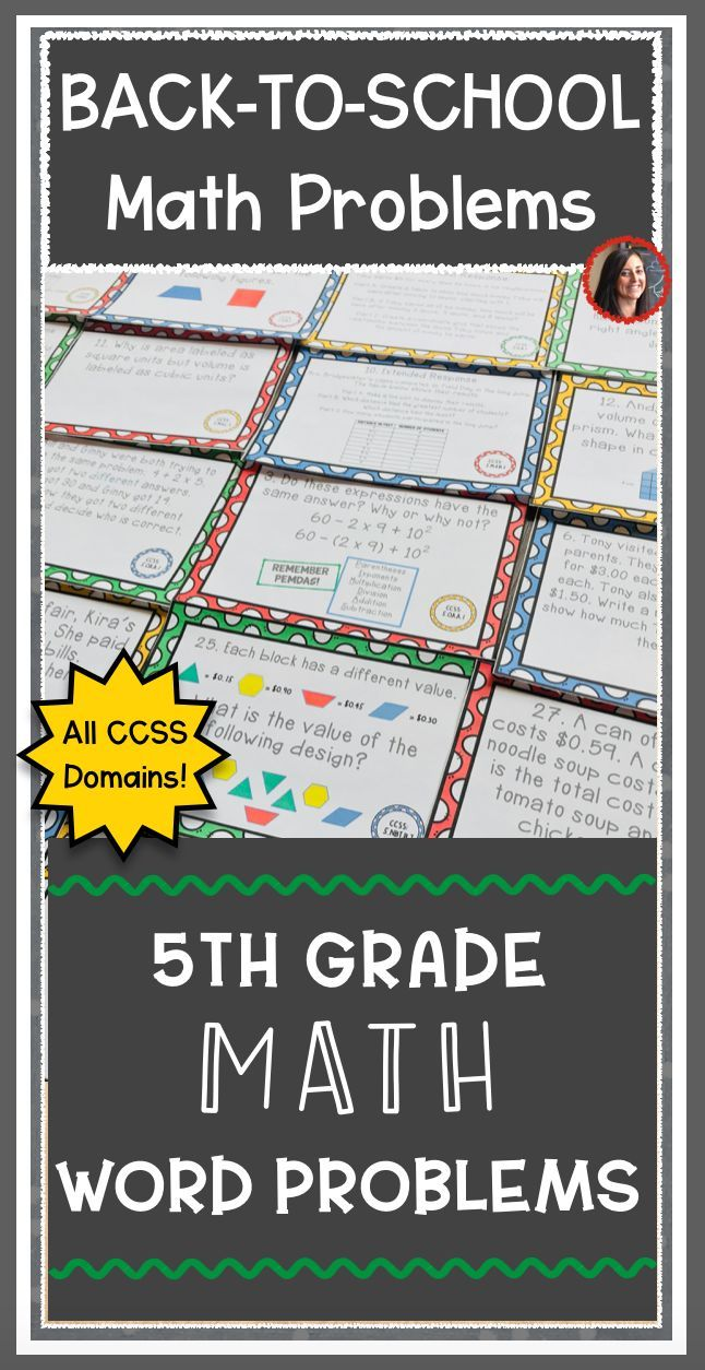 Start Your Year Off Right And Be Ready For Back To School With 142 Word Problems Task Cards Use As Math Constructed Response Word Problems Math Word Problems