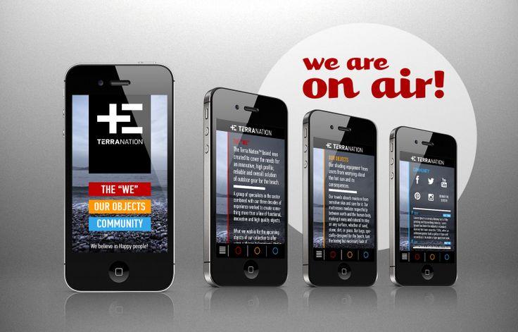 terra-nation.com  \\ mobile site design